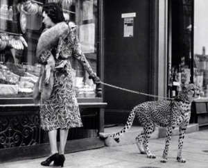 Josephine with pet cheetah